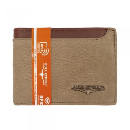 Bifold Leather Men's Wallet RFID Blocking - Brown BWGG-80456