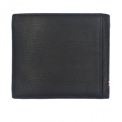 Bifold Genuine Leather Mens Wallet - Black BWHS-80674