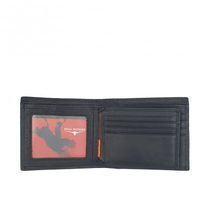Bifold Genuine Leather Mens Wallet - Black BWHS-80675