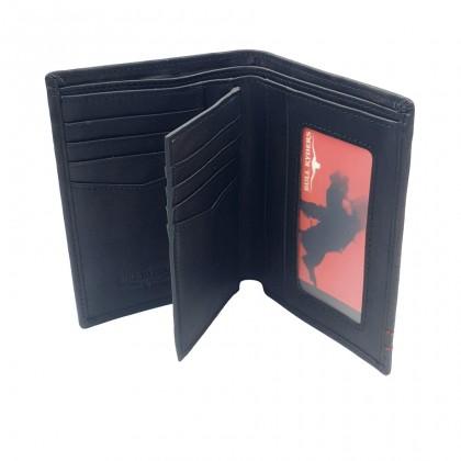 Bifold Genuine Leather Mens Wallet - Black BWHS-80678