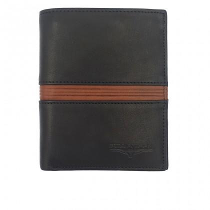 Bifold Leather Men's Wallet RFID Blocking - Black BWGY-80567